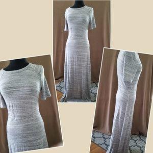 Lou Grey maxi dress extra long size small stretch